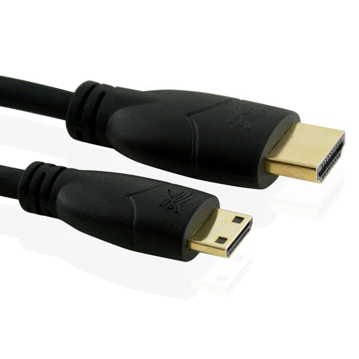 Cablesson Basic High Speed 1m Mini HDMI to HDMI Cable with Ethernet ( v1.4) - use with Panasonic, Sony, JVC, Nikon, FujiFilm Camera and Camcorder - hdmicouk