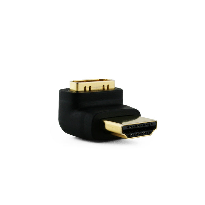 Cablesson® Right-Angle 270 Degree HDMI Adapter - Black - hdmicouk