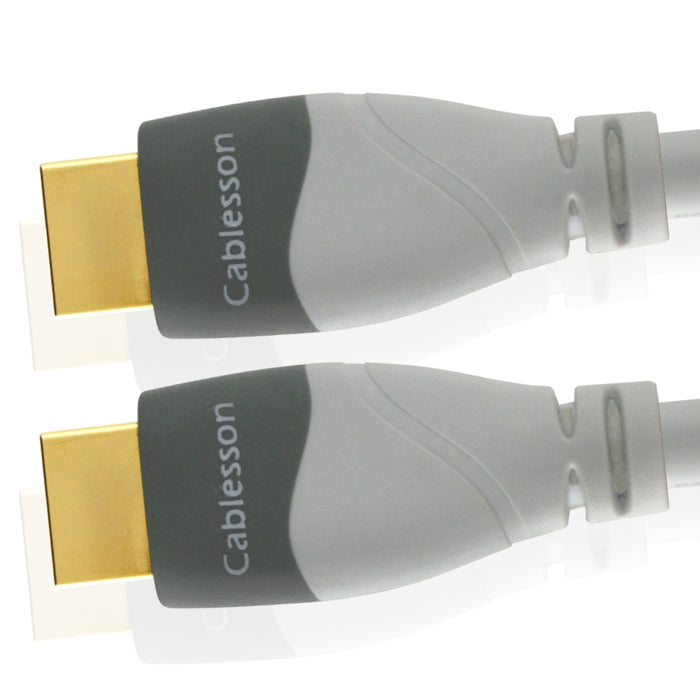 Cablesson MacKuna 3m / 3 metres High Speed HDMI Cable with Ethernet (Latest 2.0/1.4a 3D Ready with Audio Return and Ethernet Channel) Up to 2160p For Sony PS3 PS4 XBOX 360 PC SKYHD Virgin Box Nintendo Wii U LCD Plasma & LED TV Full HD, 4k UltraHD, WHITE HDMI CABLE
