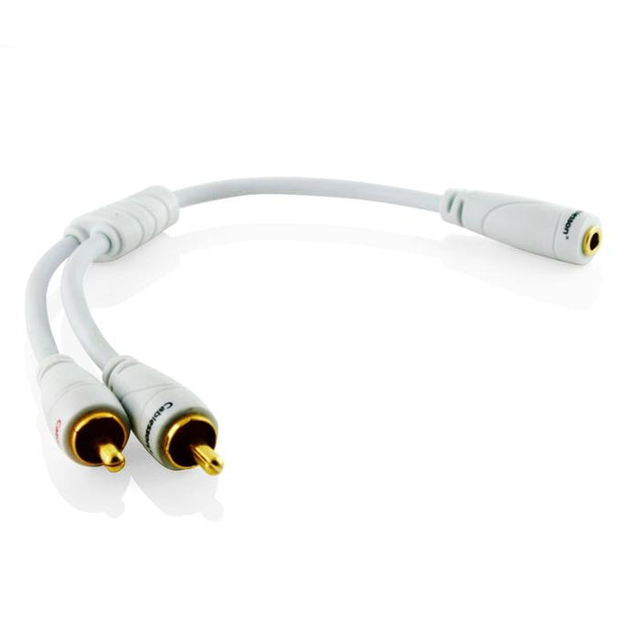 Ivuna RCA Male to Female ( 3.5mm Stereo)-0.2m - hdmicouk