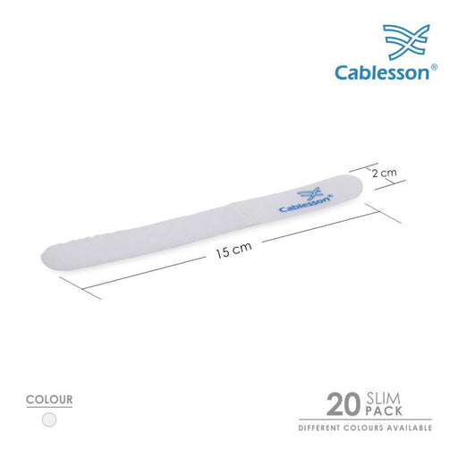 Cablesson - Slim Pack - Reusable Releasable Hook and Loop Nylon Self-Gripping Cable Ties - HDMICOUK