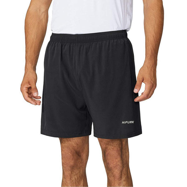 "Men's 5"" Workout Running Quick Dry Shorts Lightweight Gym Fitness Short Liner Zipper Pockets"