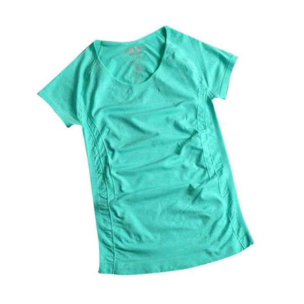 Women T Shirt Quick Drying Fitness Running short-sleeve exercise clothes