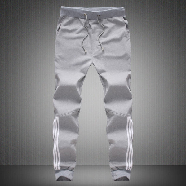 Mens Pants Fashion Gyms Skinny Joggers Striped Slim Sweatpants