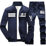 Mens 2 pcs Hip Hop Long Sleeve Hooded Sweatshirt + Pants Suit Hoodie