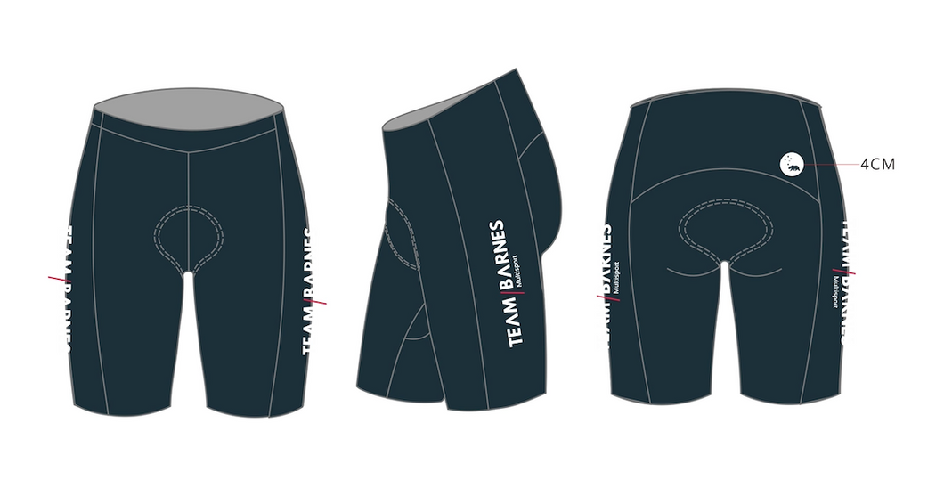 TEAM BARNES velocity tri shorts - men's