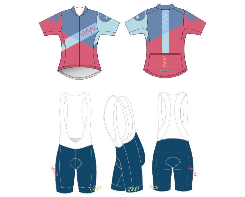 team WYN 2019 premium cycling kit (jersey + bib shorts)- women's