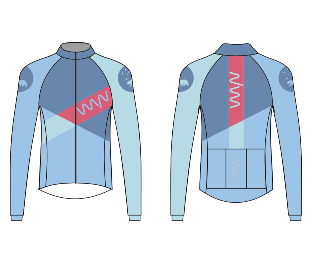 team WYN 2019 premium long sleeve cycling/warm up jersey - men's