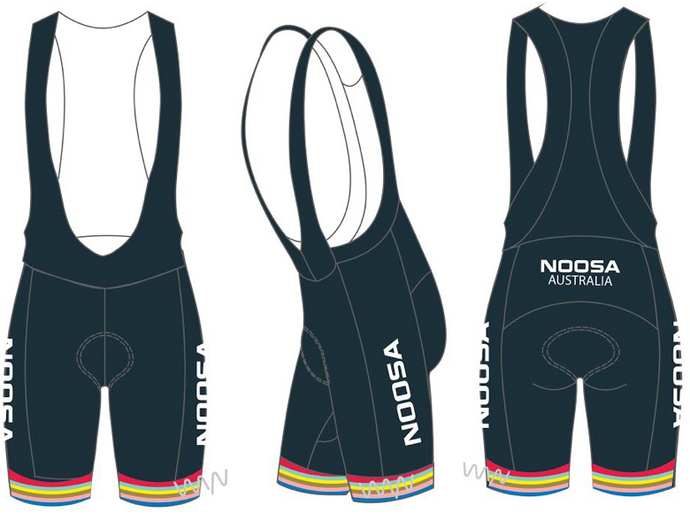 NOOSA TRI CLUB men's premium cycling bib shorts