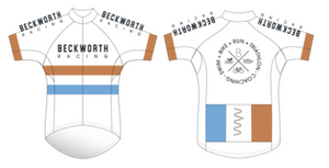 BECKWORTH racing premium cycling jersey - men's/white