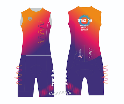 Traction sleeveless tri suit - men's