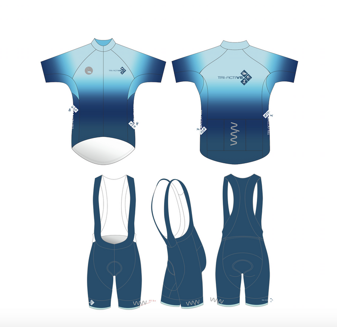 Tri-ActiV8 - men's premium cycling kit (jersey & bib shorts)