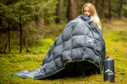GEAR ROCK Outdoor Daunendecke 180 x 210cm (300g)