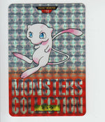 Pokemon Prism Carddass Pocket Monsters 1996 Mew 151 Bandai (red)
