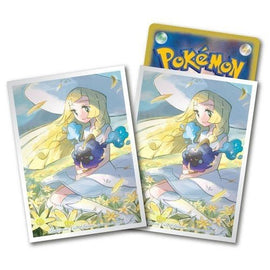 Pokemon Deck Shield Lillie & Cosmog Premium mat (64 Pcs) Standard Size Sleeves