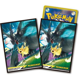 Pokemon card Sleeves Pikachu and Zekrom TAG TEAM GX (64 Pcs)