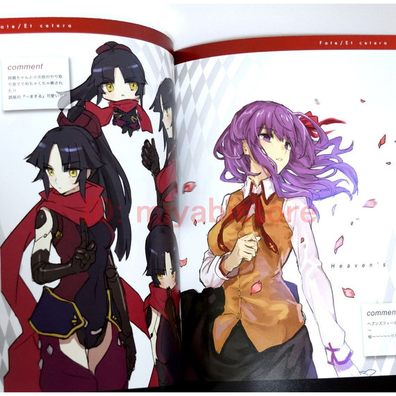 "Fate/Grand Order Illustration Art Book ""Et cetera 2nd"" TYPE MOON fandom clique"