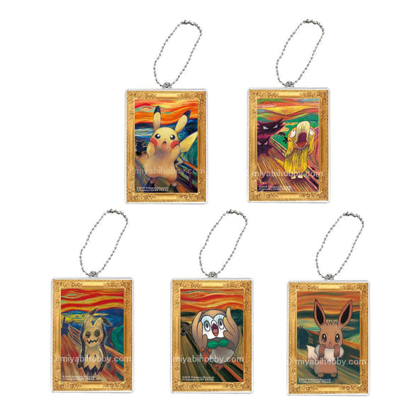 Pokemon Art Keychain Edvard Munch The Scream (5 keys all include)