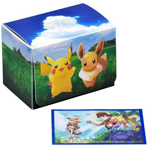 Pokemon Deck Shield and Deck Case Pika & Vee (64 Pcs) Standard Size Sleeves