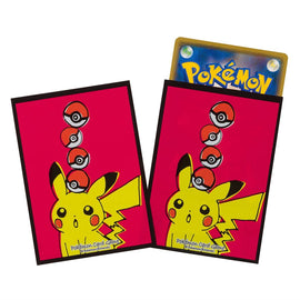 Pokemon card Sleeves Pikachu drawing (64 Pcs)