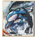 Pokemon Shikishi Art Boards #3-15 Kyogre (Silver Foil Rare)