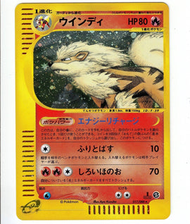 Pokemon Card 2002 Arcanine Skyridge Mysterious Mountains 017 [1st Edition]