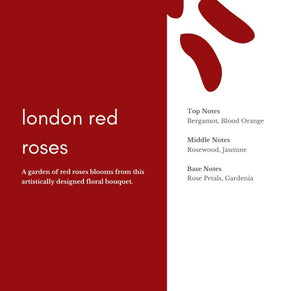 London Red Roses Candle