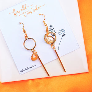 Pearl and Oyster Earrings
