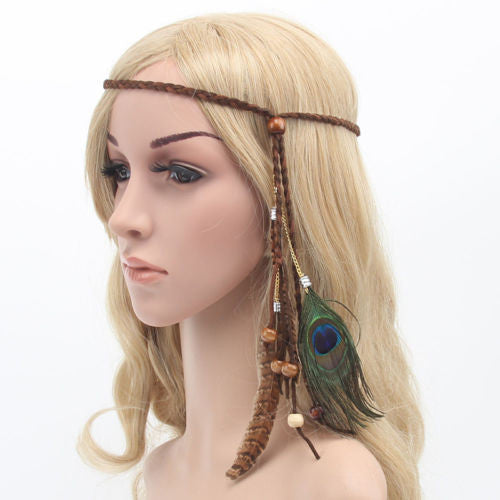 Feather Headdress Boho Hairband