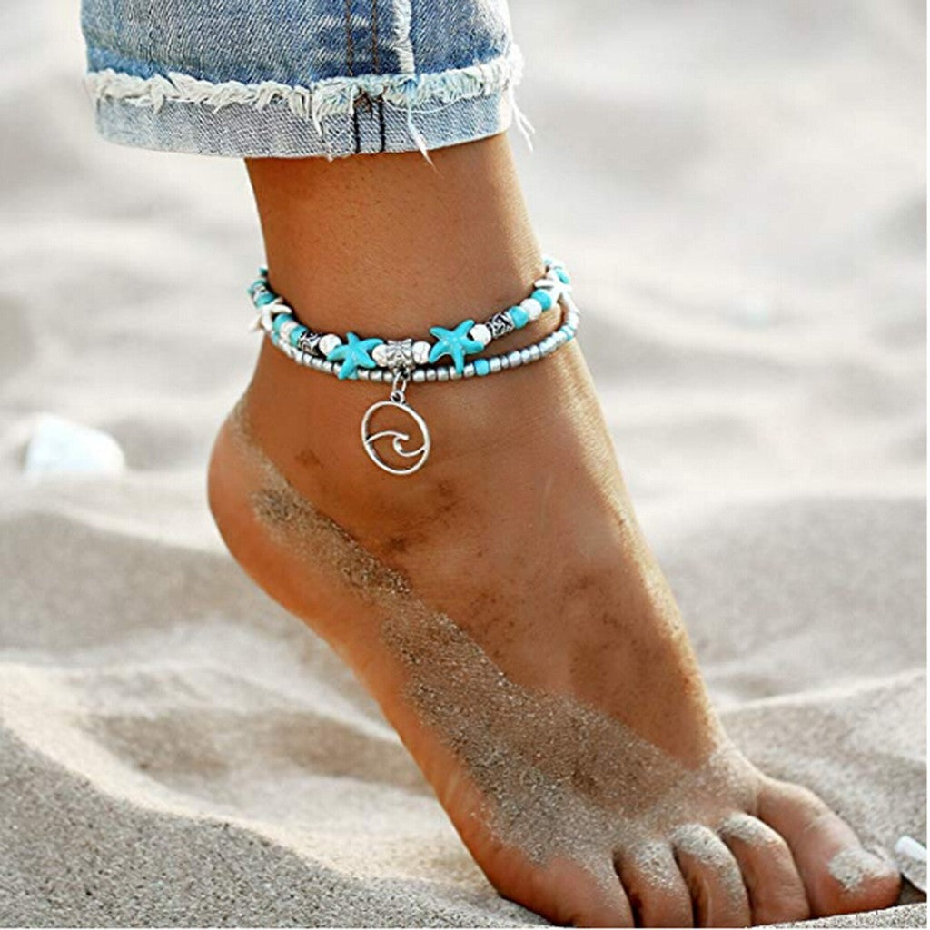 Charm Beads Sea Boho Anklet