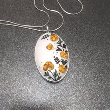 Load image into Gallery viewer, Golden Peonies - Pendant