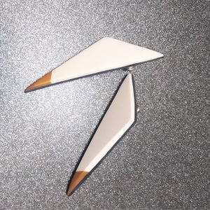 White Trigon - Earrings