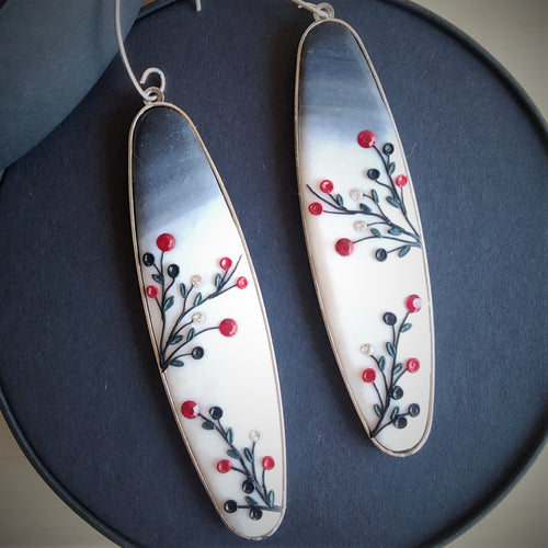 Red Japanese Cherry - Earrings