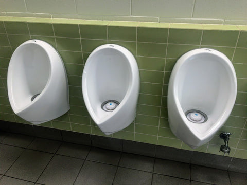 ZeroFlush waterless urinals at Pat Rafter Arena