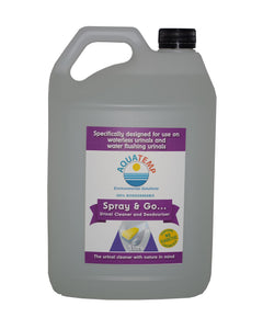 Aquatemp Spray & Go Urinal Cleaner & Deodoriser 5 Litre