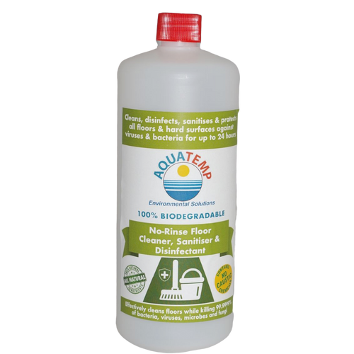Aquatemp No-Rinse Floor, Sanitiser & Disinfectant 1 Litre