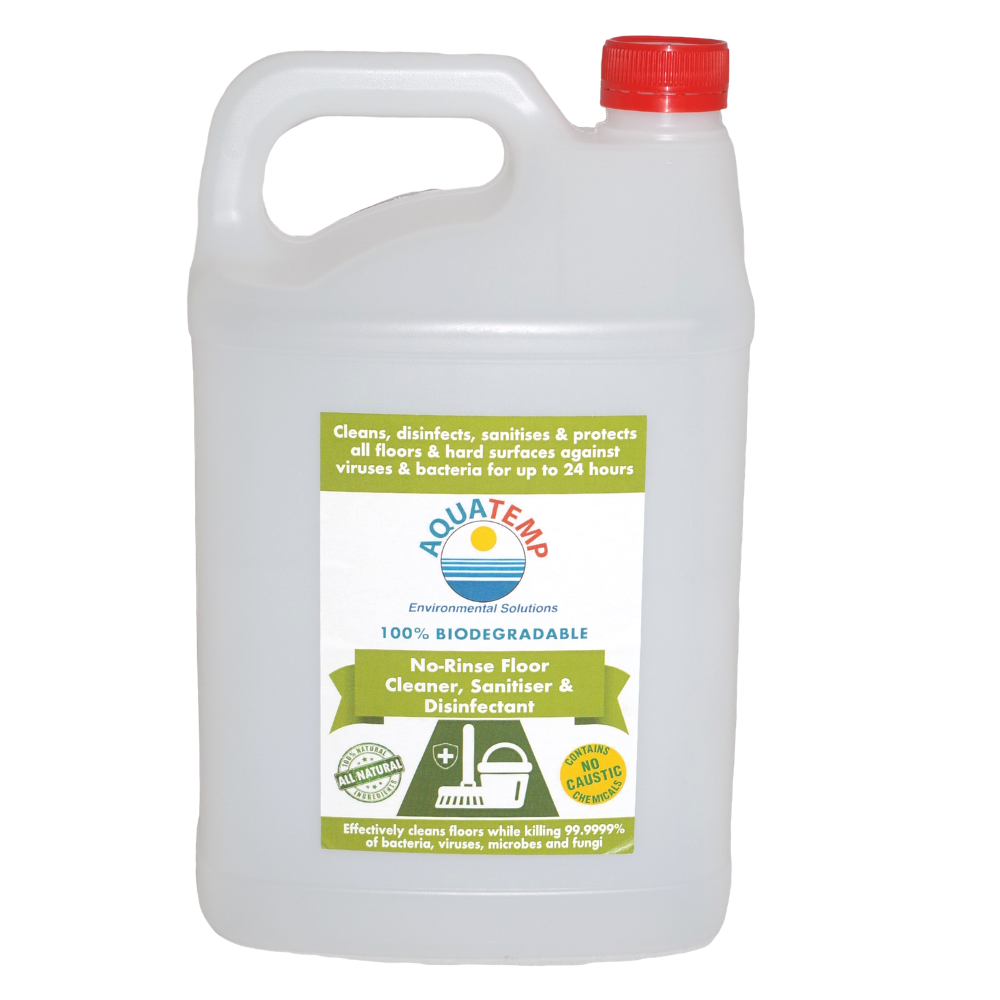 Aquatemp No-Rinse Floor Cleaner, Sanitiser & Disinfectant 5 Litre