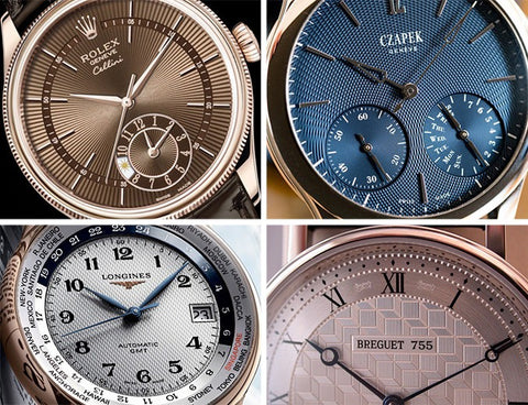 Guilloche dials on watches