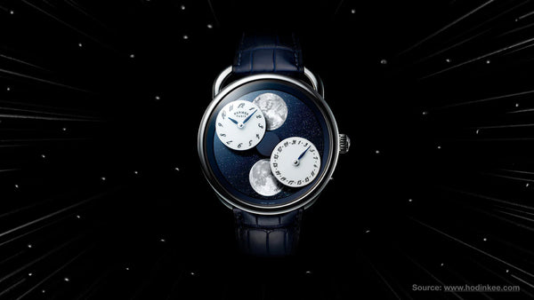Hermès Arceau L'Heure De La Lune- Top 10 moonphase watches of all time from Sekoni Original- Affordable and Luxury Moonphase timepieces for men and ladies/women