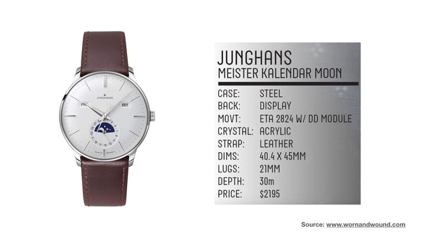 Junghans German Made Moon Phase- Top 10 moonphase watches of all time from Sekoni Original- Affordable and Luxury Moonphase timepieces for men and ladies/women.006.jpeg