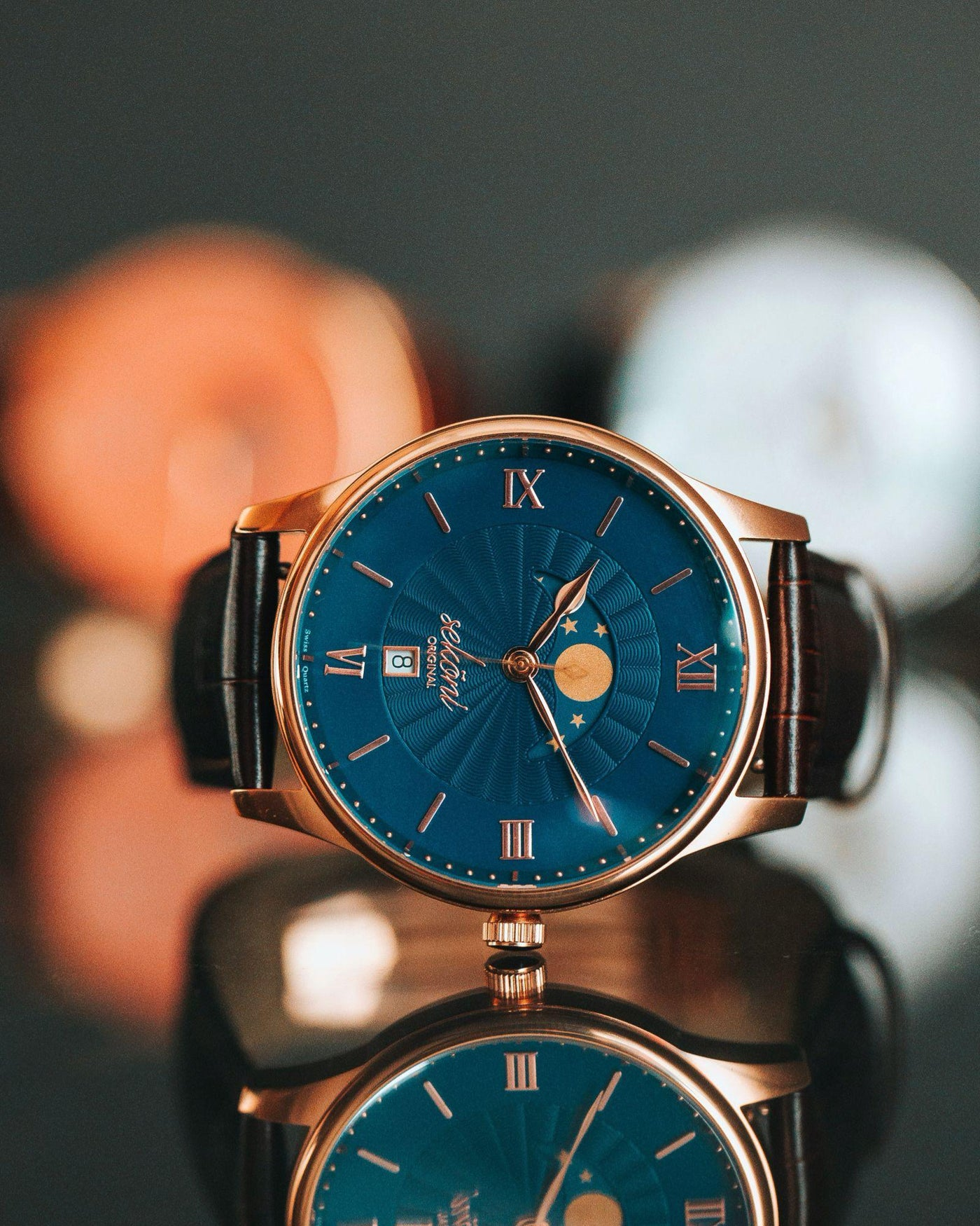 Men watches on sale- Best Blue Moonphase watch