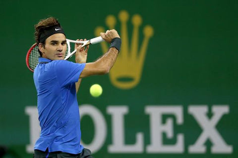 Roger Federer Tennis Sponsored by Rolex- Luxury watches sponsorship