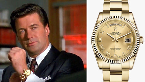 The Gold Rolex Day-Date from ​Glengarry Glen Ross (​1992)-Sekoni Original- Affordable and Luxury Moonphase watches for Men and Women- Blog about watches- Best Moonphase, best movies and films watches