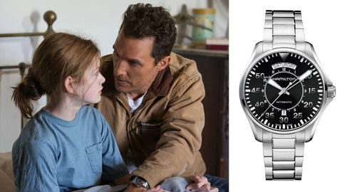 The Hamilton Khaki Pilot Day Date from ​Interstellar​ (2014)- Sekoni Original- Affordable and Luxury Moonphase watches for Men and Women- Blog about watches- Best Moonphase, best movies and films watches