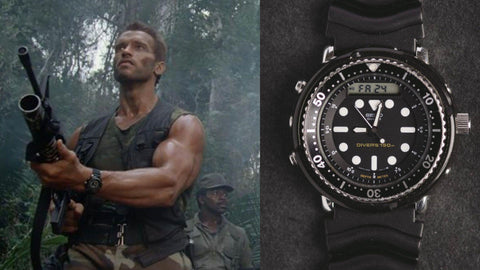 The Seiko H558 from ​Predator (1987)- Sekoni Original- Affordable and Luxury Moonphase watches for Men and Women- Blog about watches- Best Moonphase, best movies and films watches