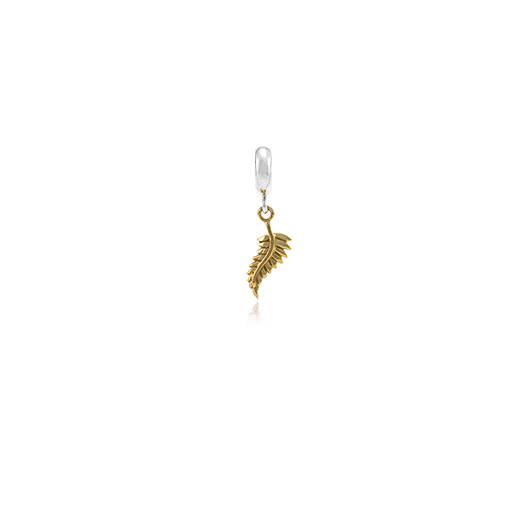Aotearoa's Fern, gold and silver bead charm meaning honour from Evolve Inspired Jewellery