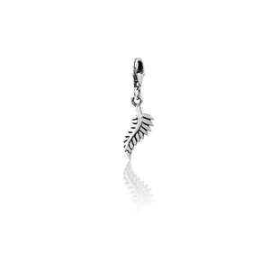 Forever Fern, silver link charm, from Evolve Inspired Jewellery