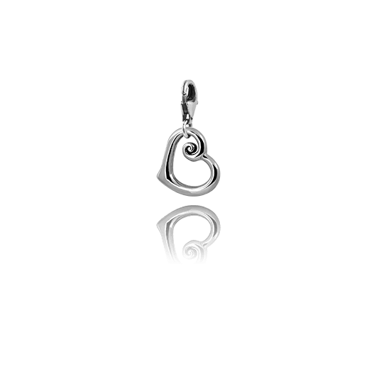 Heart of NZ, silver link charm, from Evolve Inspired Jewellery