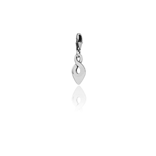 Infinity Twist, silver link charm, from Evolve Inspired Jewellery