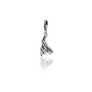 Kowhai, silver link charm, from Evolve Inspired Jewellery
